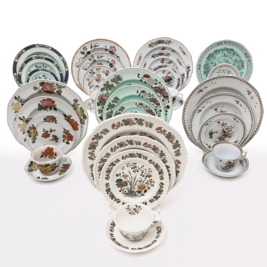English Wedgwood and Adams Ironstone Place Settings, Late 20th Century