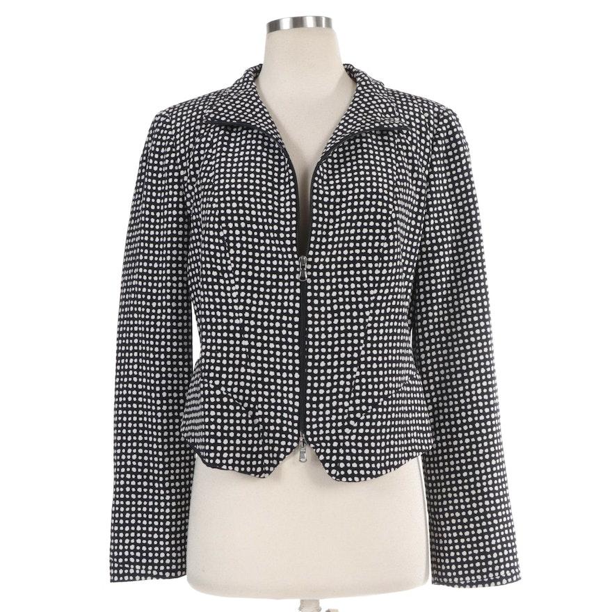 Emporio Armani Polka Dot Zipper Front Jacket