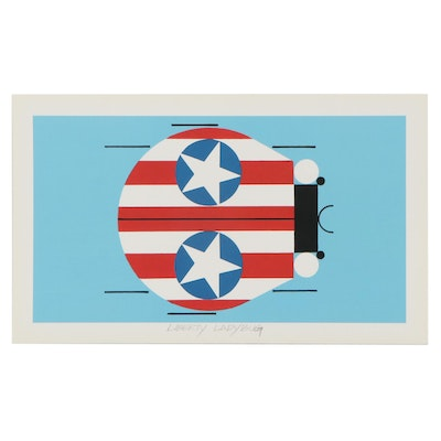 """Offset Lithograph After Charley Harper """"Liberty Ladybug,"""" 21st Century"""