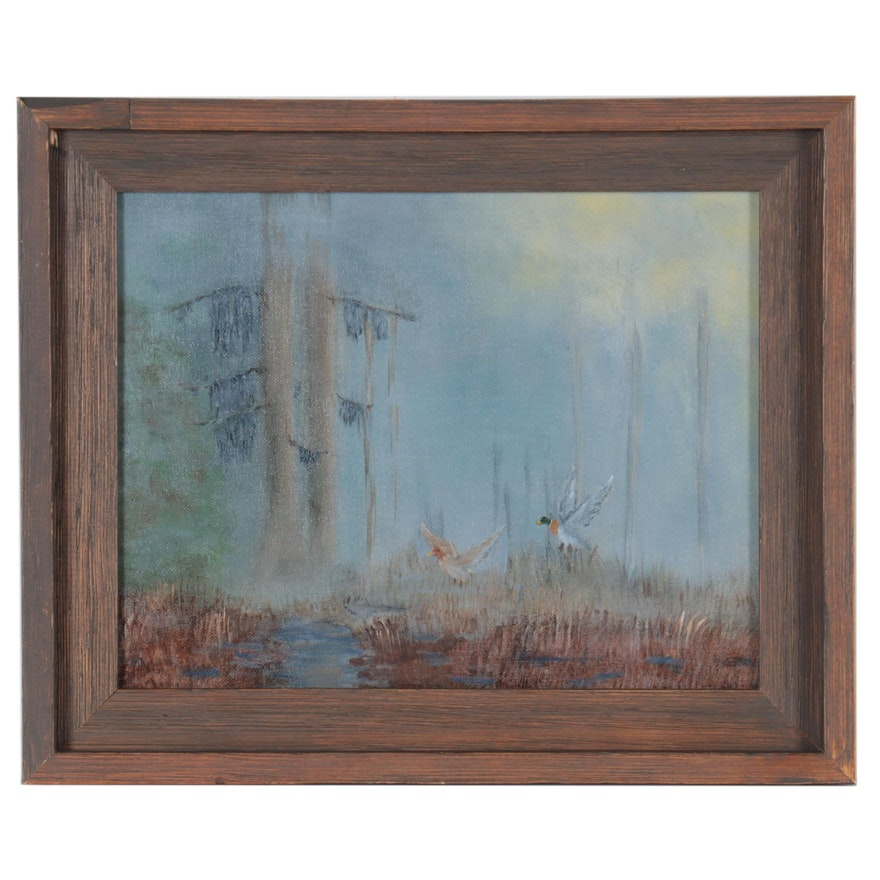Landscape Oil Painting Attributed to Phil Sandusky