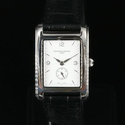 Frederique Constant Carree Stainless Steel Quartz Wristwatch