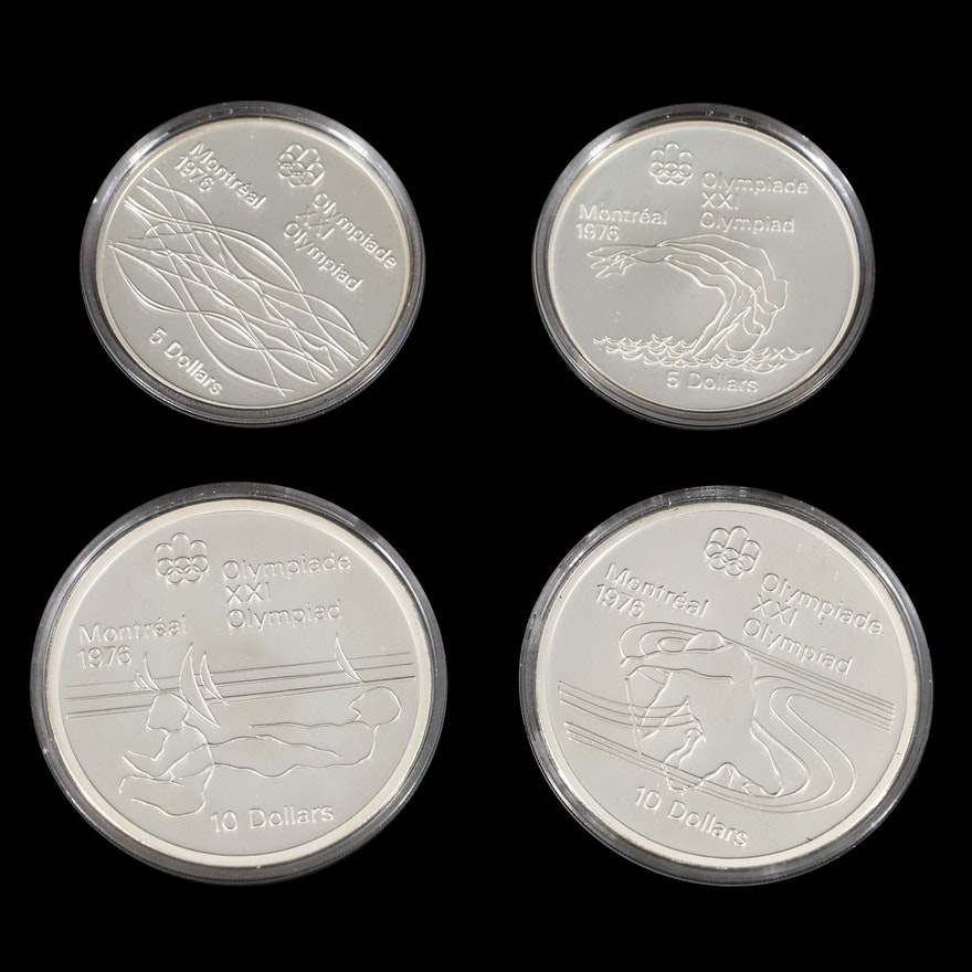 1976 Canada Montreal Olympic Silver Proof Coin Set
