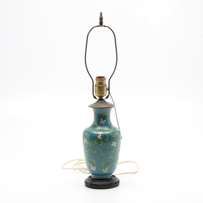 Chinese Cloisonne Table Lamp, Mid-20th Century