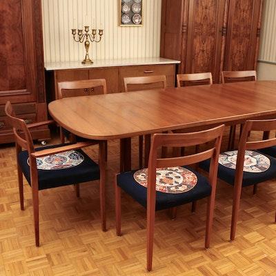 Troeds Bjärnum Swedish Modern Teak Nine-Piece Dining Set