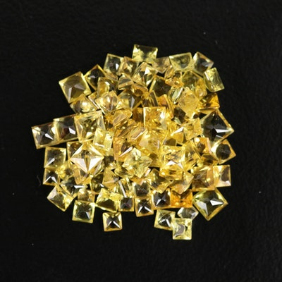 Loose Square Faceted Sapphires