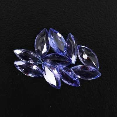 Loose 7.21 CTW Marquise Faceted Tanzanites