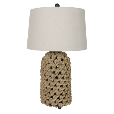 Contemporary Braided Rope Base Table Lamp