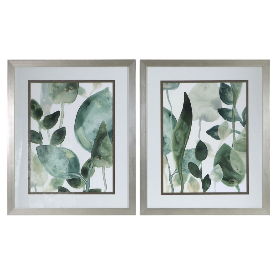 Abstract Botanical Offset Lithographs After June Erica Vess, 21st Century