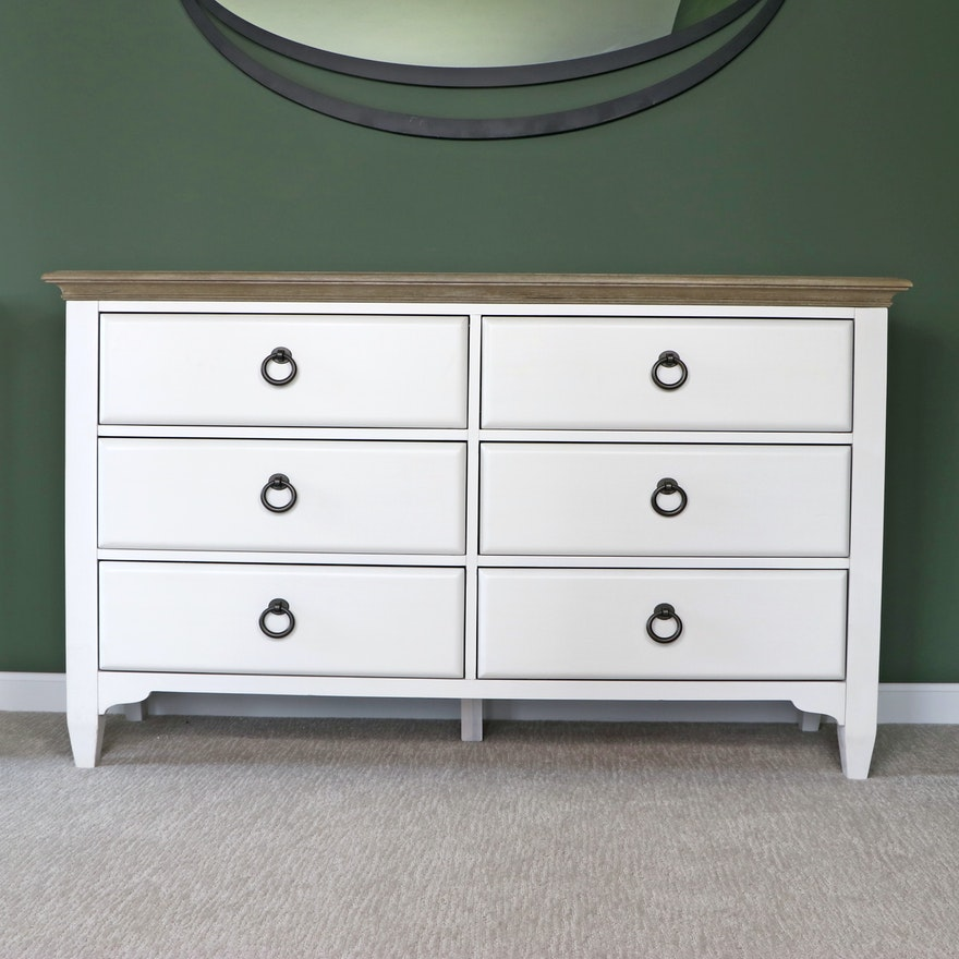 """Riverside Furniture """"Myra"""" Painted-Wood and Cedar-Lined Six Drawer Chest"""
