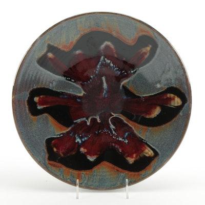 Matthew Patton Art Pottery Decorative Charger, Contemporary