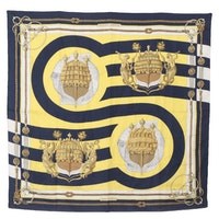 """Hermès Early Issue """"Chateau d'Arriere"""" Silk Twill Scarf"""
