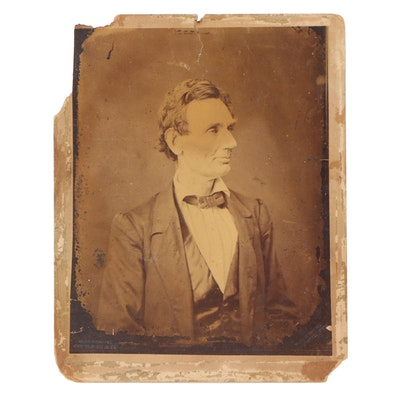 Abraham Lincoln Albumen Photograph by Alexander Hesler, Late 19th Century
