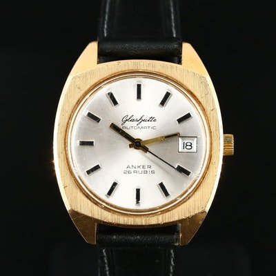 Glashütte  Automatic G.D.R. Gold Plated Stainless Steel Wristwatch