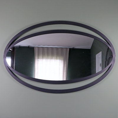 Moe's Home Collection Iron Framed Ovoid Wall Mirror, Contemporary
