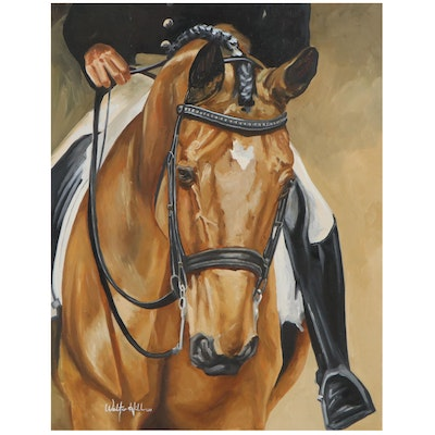 Walter Hill Oil Painting of Horse and Rider, 2021