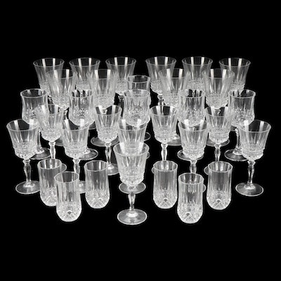 Crystal Stemware and Glasses, Mid to Late 20th Century
