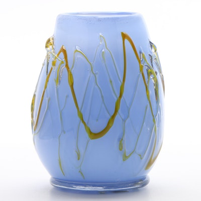 Murano Handblown Art Glass Vase, Circa 1998