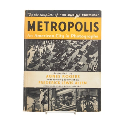"""First Edition """"Metropolis: An American City in Photographs,"""" 1934"""