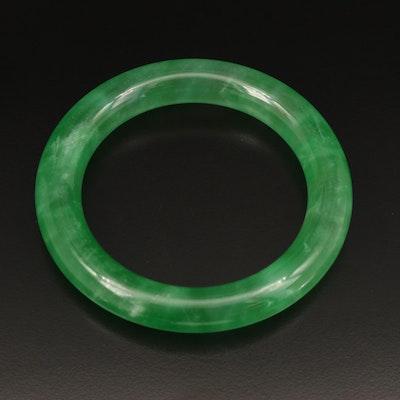 Jadeite Hololith Bangle
