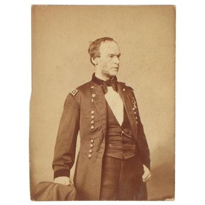 General Sherman Albumen Silver Photo Print
