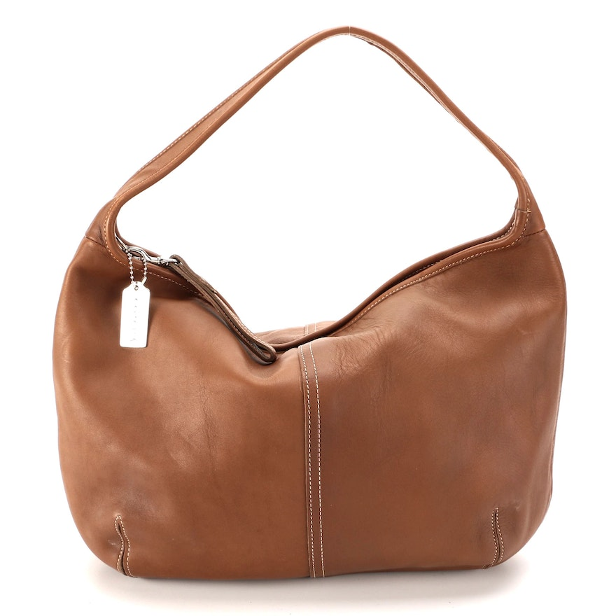 Coach Ergo Hobo Bag in Glove-Tanned Brown Leather