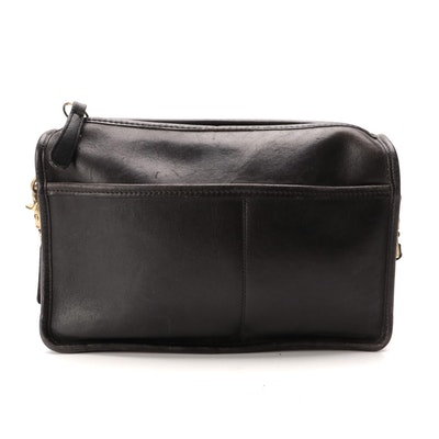 Coach Sutton Crossbody Bag in Black Smooth Leather
