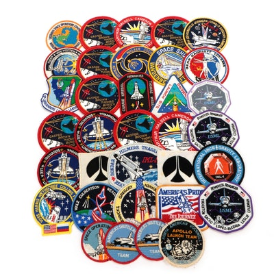 NASA Space and Shuttle Mission Embroidered Patches, Late 20th Century