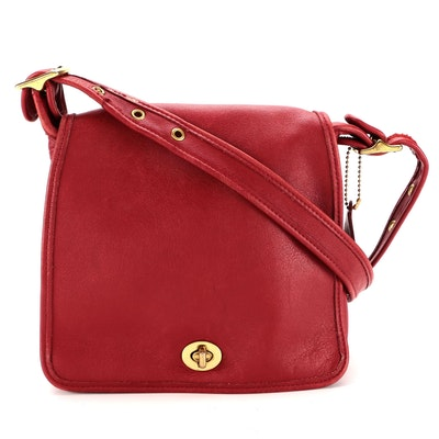 Coach Legacy Companion Bag in Red Glove Tanned Leather