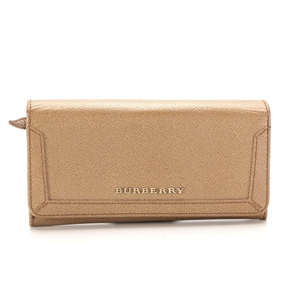 Burberry Continental Wallet in Beige Patent Leather