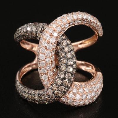 EFFY 14K 1.54 CTW Diamond Interlocking Ring