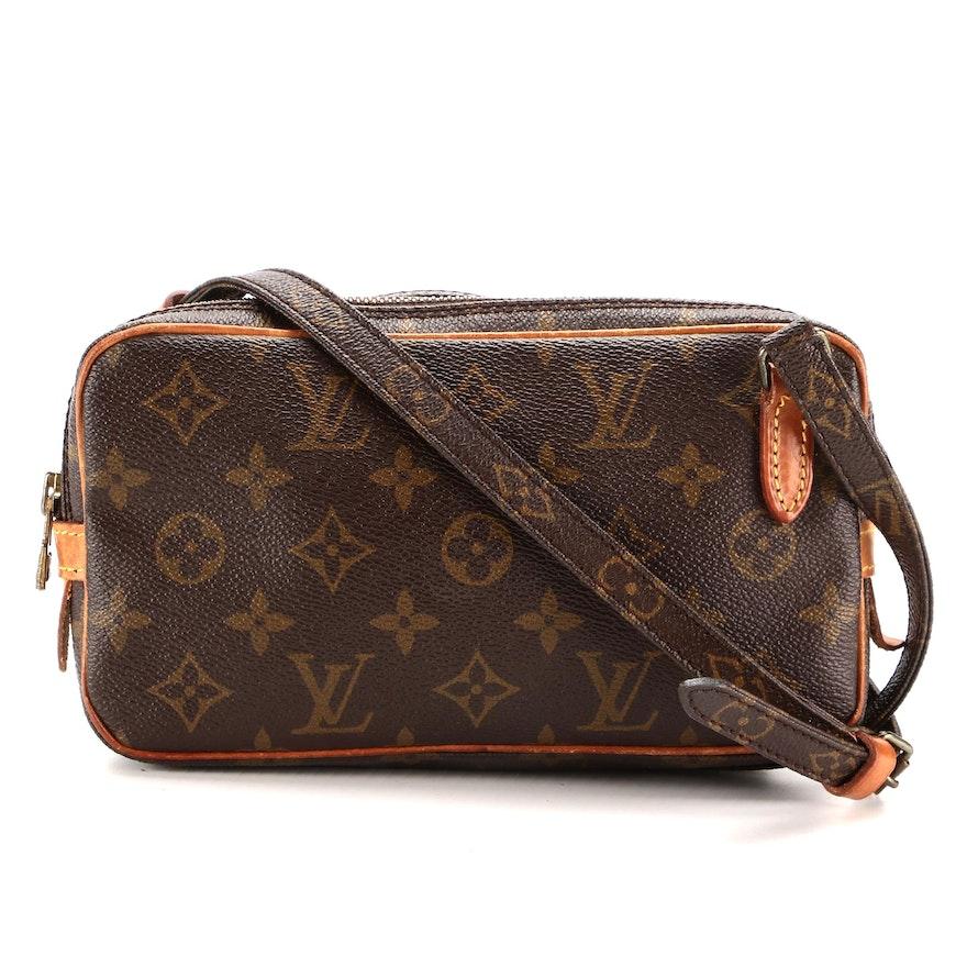 Louis Vuitton Pochette Marly Bandouilère Crossbody Bag in Monogram Canvas