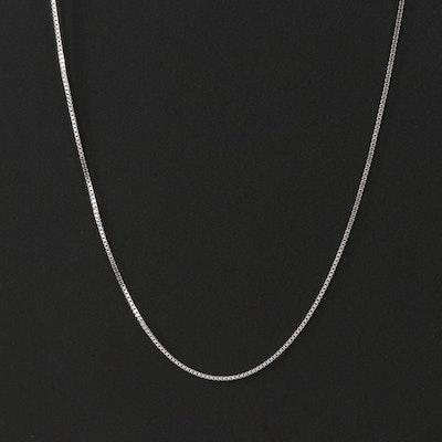 Italian 18K Box Chain Necklace