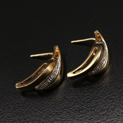 Italian 18K Diamond Earrings