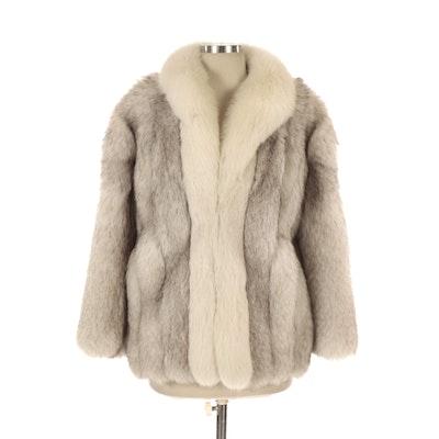 Furs Blue Fox Fur Coat from Alper Furs