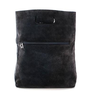 Gucci Navy Suede Tote Bag