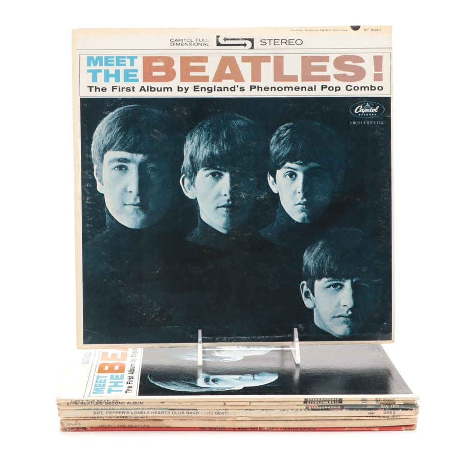"""The Beatles """"Help!"""", """"Abbey Road"""", """"Yellow Submarine"""", Other Vinyl LP Records"""