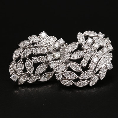 14K 2.66 CTW Diamond Cluster Earrings
