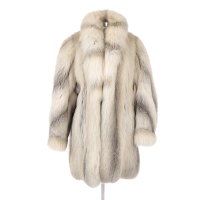 Golden Island Fox Fur Full Pelt Stroller Coat