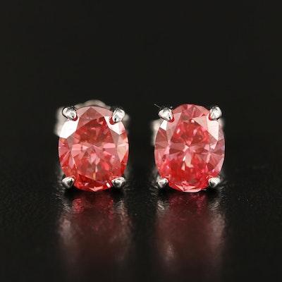 14K 1.91 CTW Pink Diamond Stud Earrings