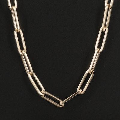 Italian 14K Paper Clip Chain Necklace
