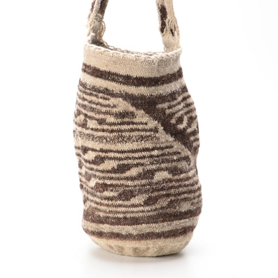 Colombian Arouca Mochila Bag in Woven Wool and Natural Fiber