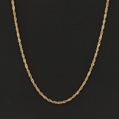 Italian 14K Chain Necklace