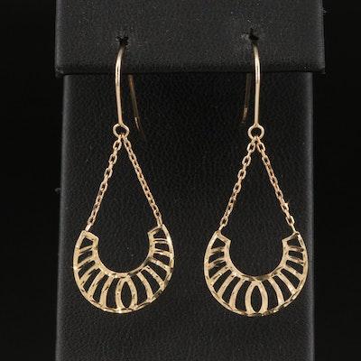 14K Pierced Drop Earrings