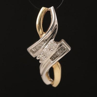 10K Two-Tone Gold Diamond Pendant