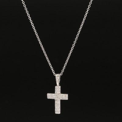 14K Pavé Diamond Cross Pendant on EFFY Chain Necklace
