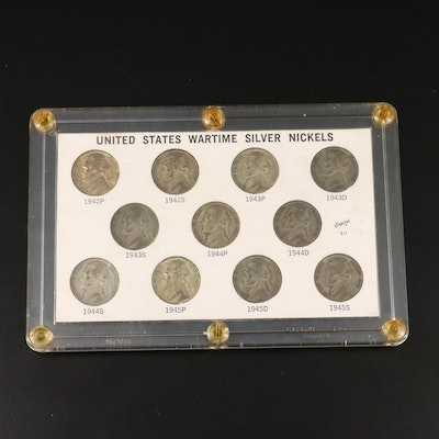 Complete Set of WWII Jefferson Silver Nickels