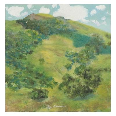 Inga Khanarina Landscape Oil Painting After Edgar Payne, 21st Century