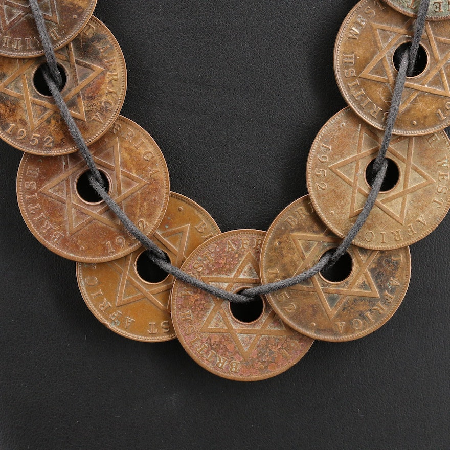 Necklace with British West African and Nigerian Coins