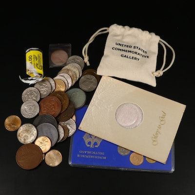 Assortment of U.S. and Foreign Coins and Tokens