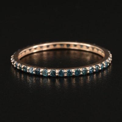 14K Fancy Blue Diamond Eternity Band